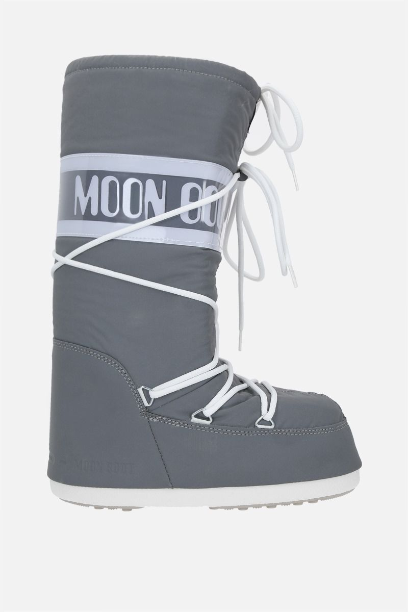 MOON BOOT: Moon Boot Classic Reflex nylon high-top snow boots Color Silver_1