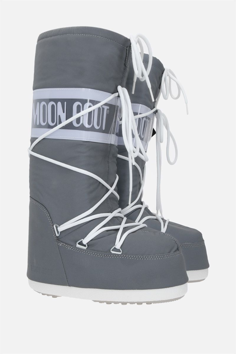 MOON BOOT: Moon Boot Classic Reflex nylon high-top snow boots Color Silver_2