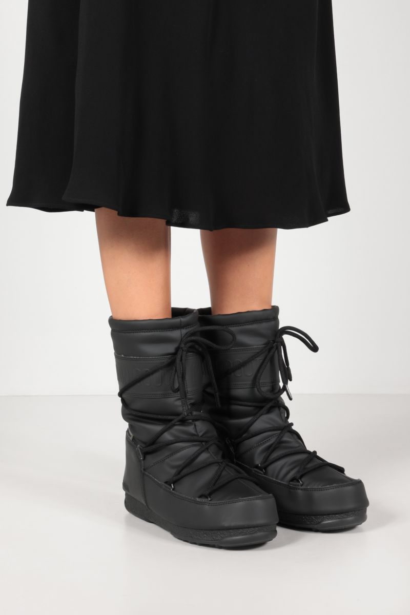 MOON BOOT: ProTECHt Mid technical fabric boots Color Black_2