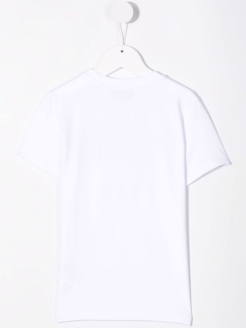 MOSCHINO KIDS: Moschino Couture! stretch cotton t-shirt Color White_2