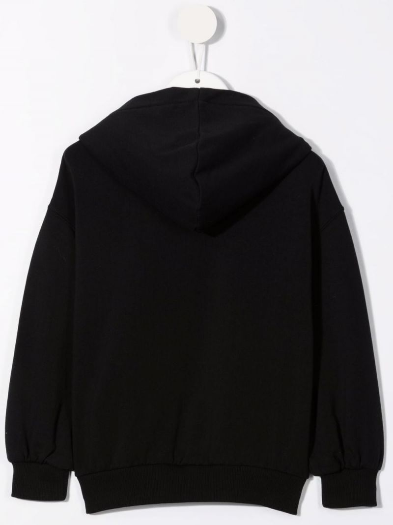 MOSCHINO KIDS: Moschino Couture! stretch cotton hoodie Color Black_2