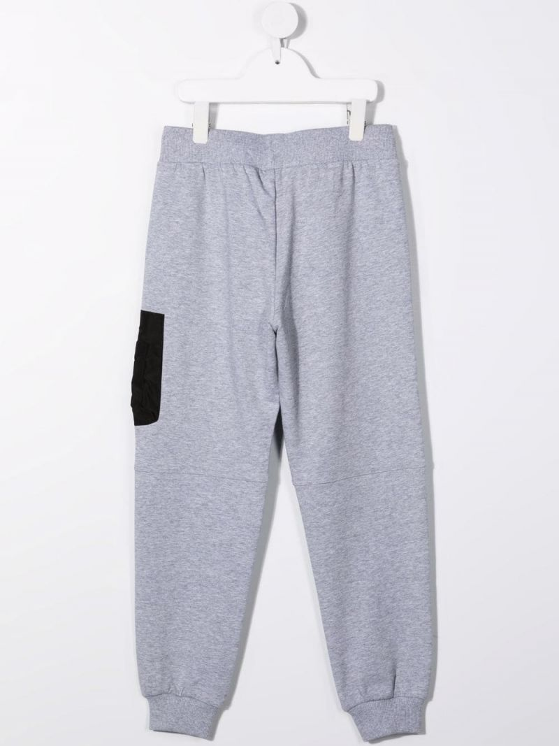 MOSCHINO KIDS: stretch cotton joggers Color Grey_2