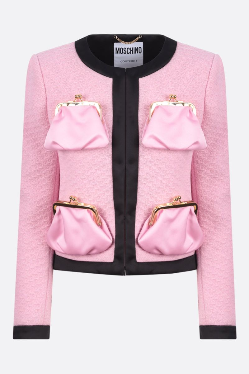 MOSCHINO: Purse Pockets single-breasted wool jacket Color Pink_1