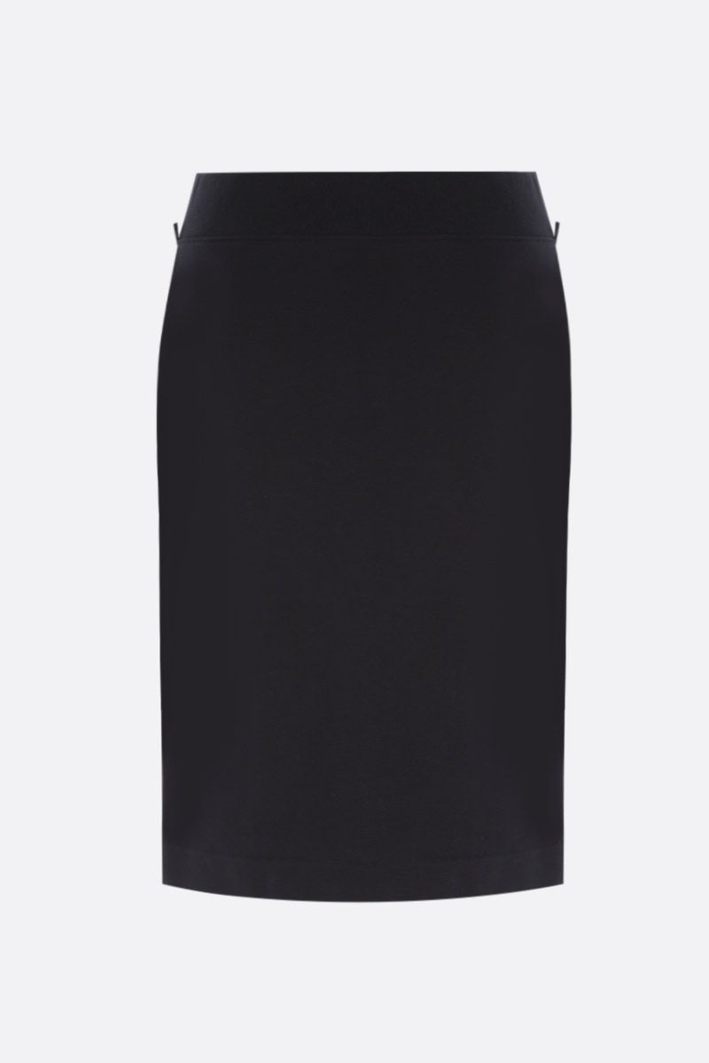 MOSCHINO: chain-detailed full-zip jersey skirt Color Black_2