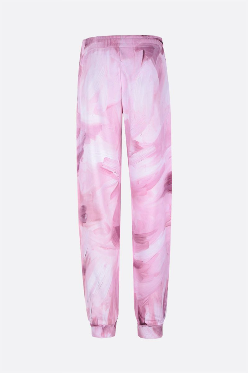 MOSCHINO: Painting cotton joggers Color Pink_2