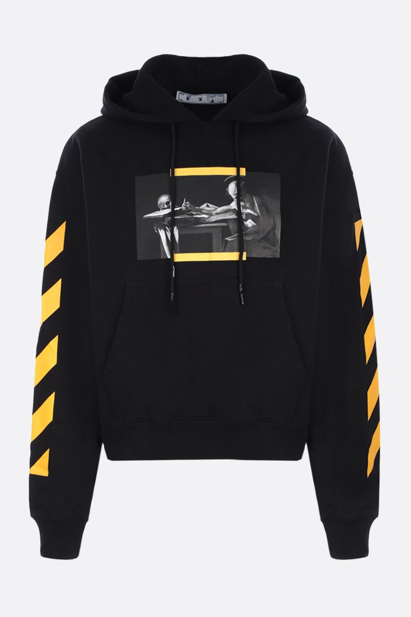OFF WHITE: Caravaggio Painting oversize cotton hoodie Color Black_1