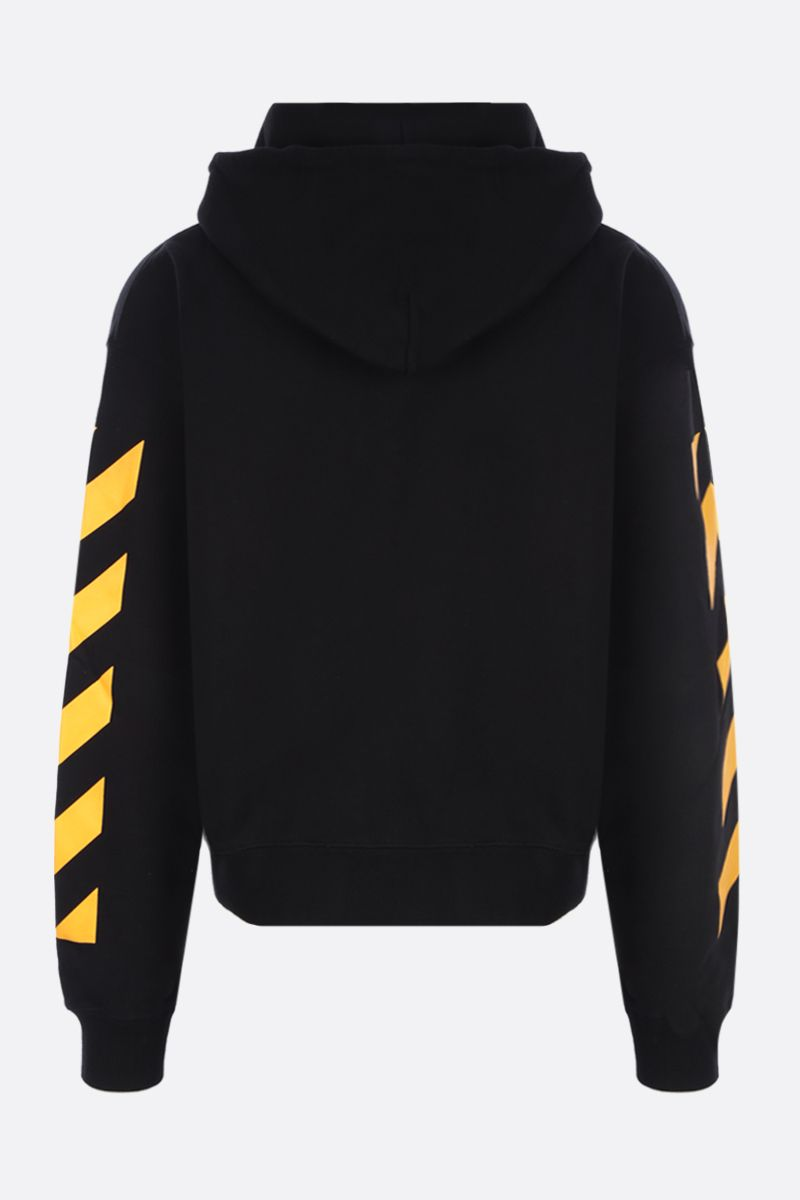 OFF WHITE: Caravaggio Painting oversize cotton hoodie Color Black_2