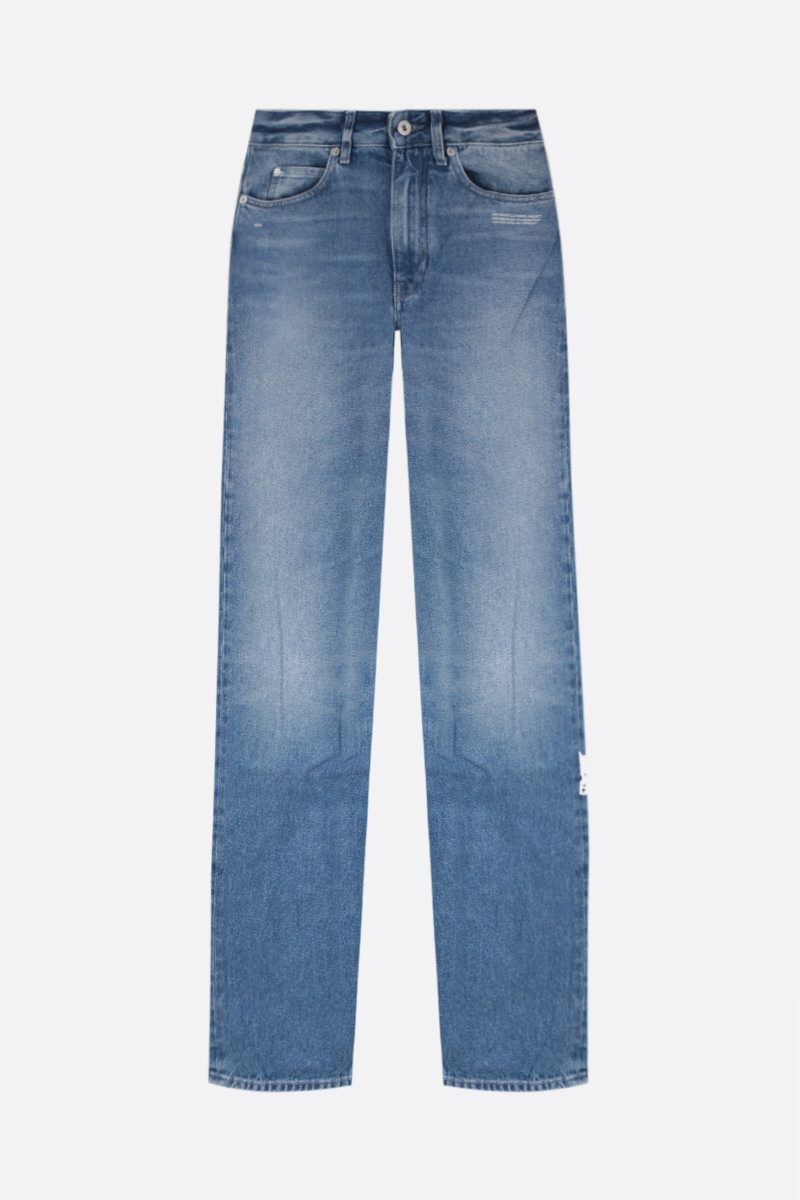 OFF WHITE: jeans Cool Baggy Colore Blu_1