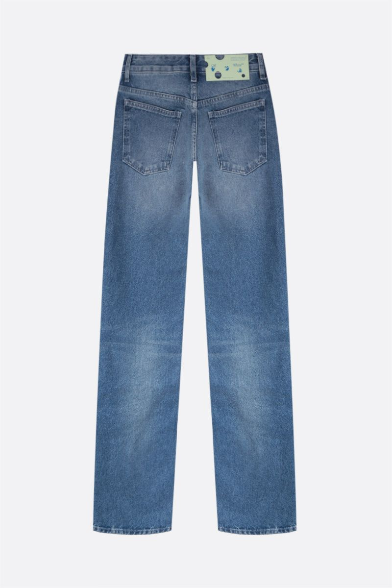 OFF WHITE: jeans Cool Baggy Colore Blu_2