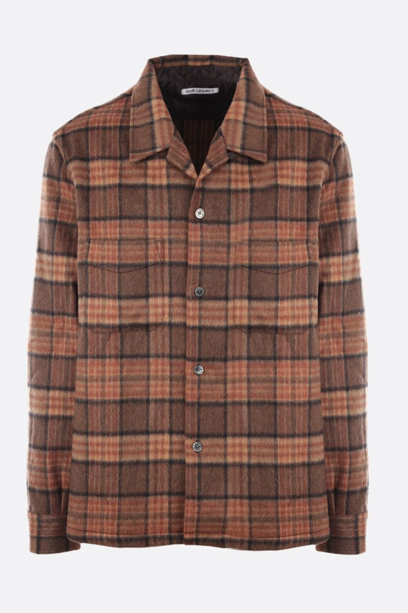 OUR LEGACY: Heusen check flannel shirt Color Brown_1