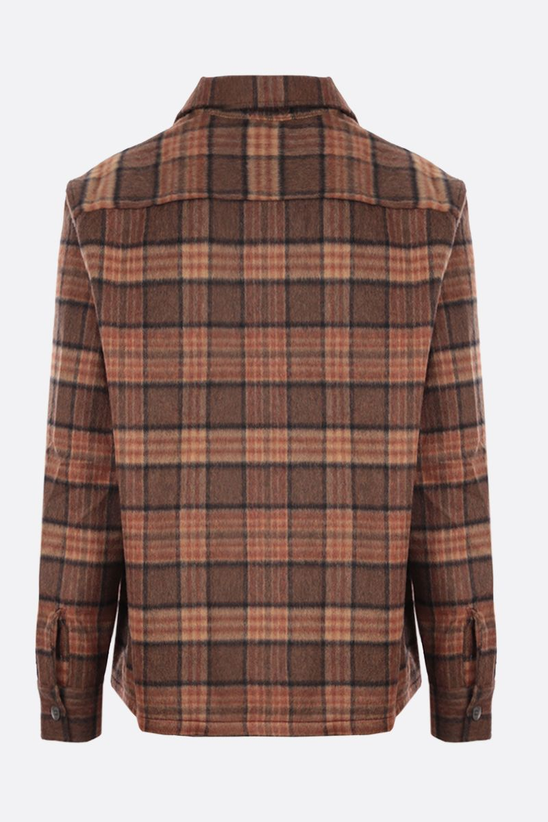 OUR LEGACY: Heusen check flannel shirt Color Brown_2
