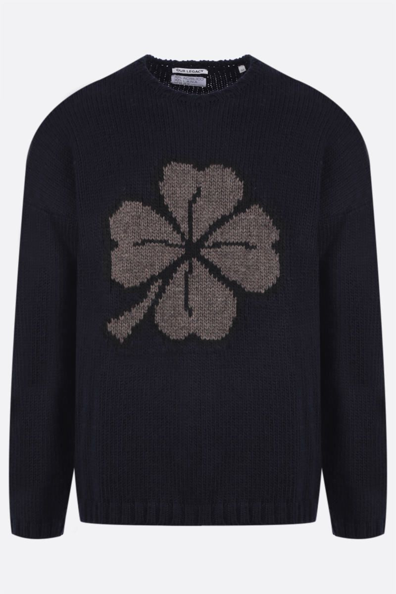 OUR LEGACY: pullover Lucky Clover in misto lana Colore Black_1
