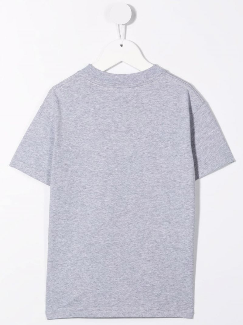 PALM ANGELS KIDS: t-shirt Bear in cotone Colore Grigio_2