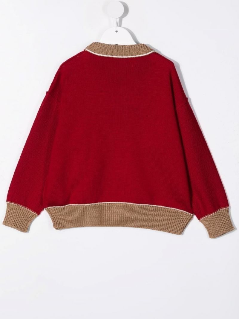PALM ANGELS KIDS: Bear wool pullover Color Multicolor_2
