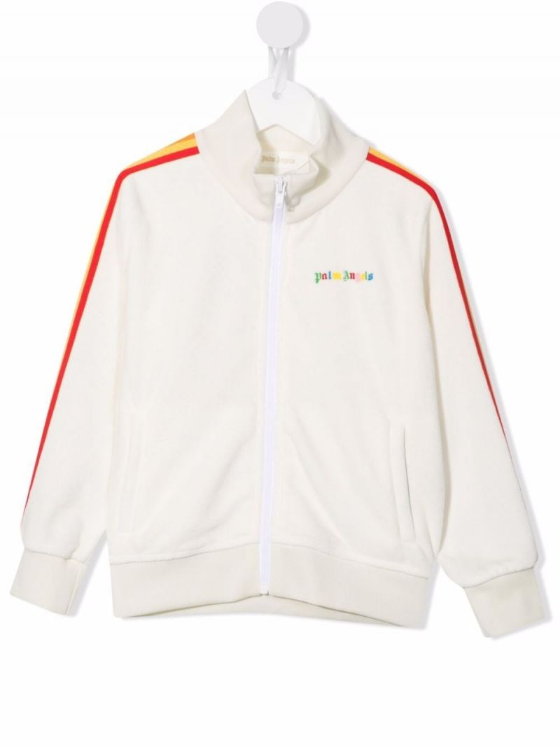 PALM ANGELS KIDS: technical jersey track jacket Color White_1