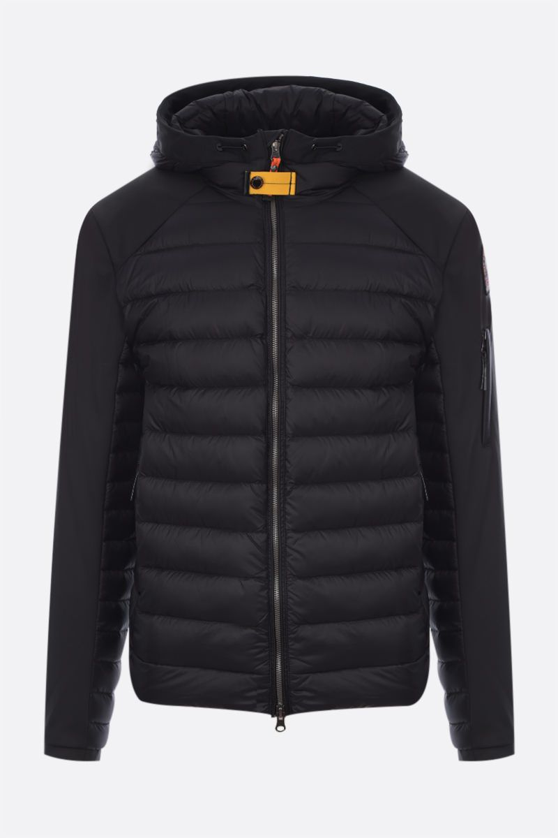 PARAJUMPERS: Kinari nylon and technical fabric down jacket Color Black_1
