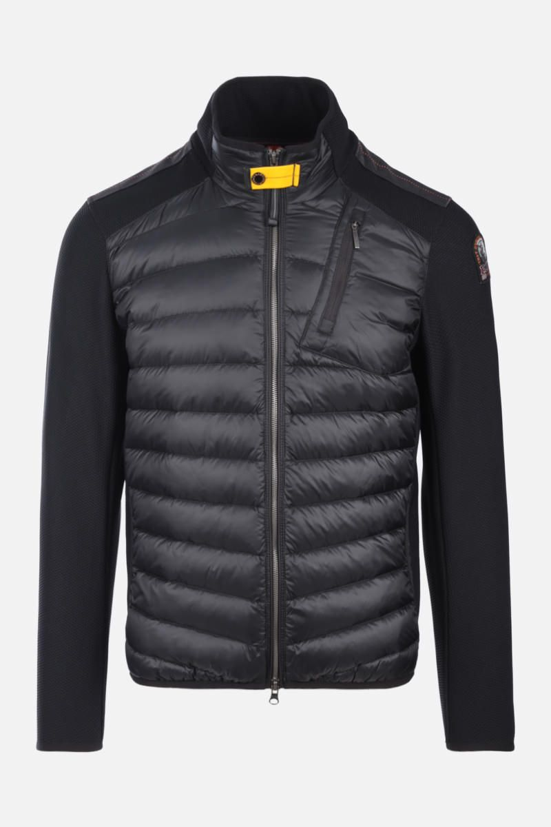 PARAJUMPERS: Jayden technical knit and nylon jacket Color Black_1