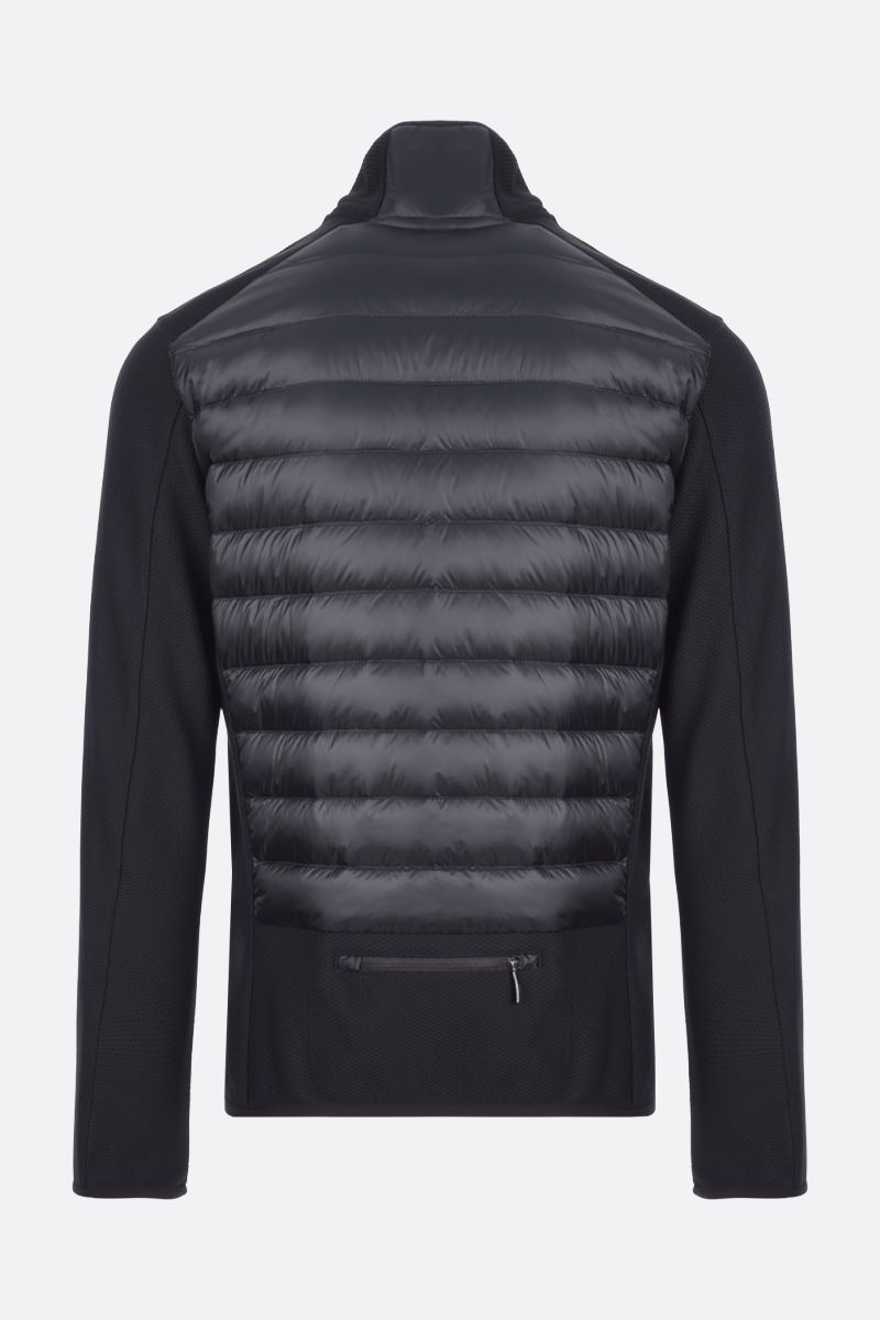 PARAJUMPERS: Jayden technical knit and nylon jacket Color Black_2
