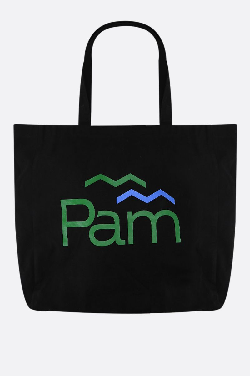 PERKS AND MINI: borsa shopping Parks in canvas Colore Black_1