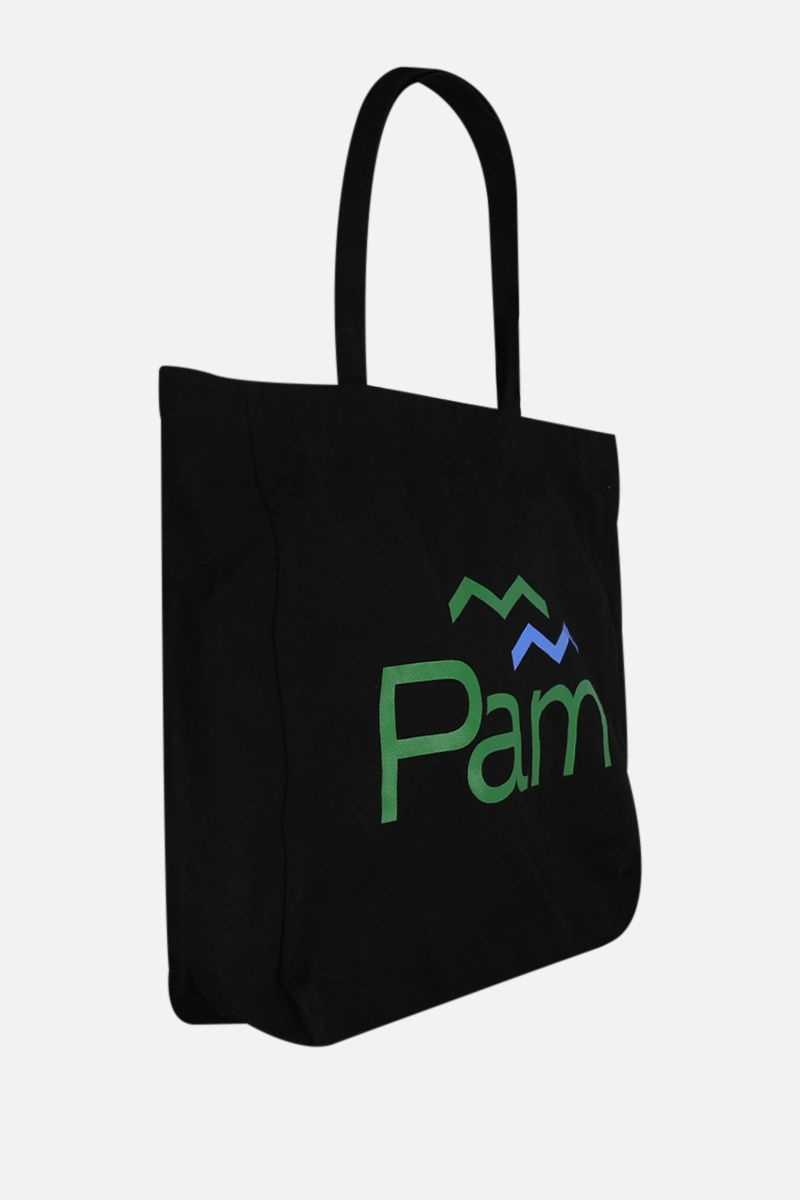 PERKS AND MINI: borsa shopping Parks in canvas Colore Black_2