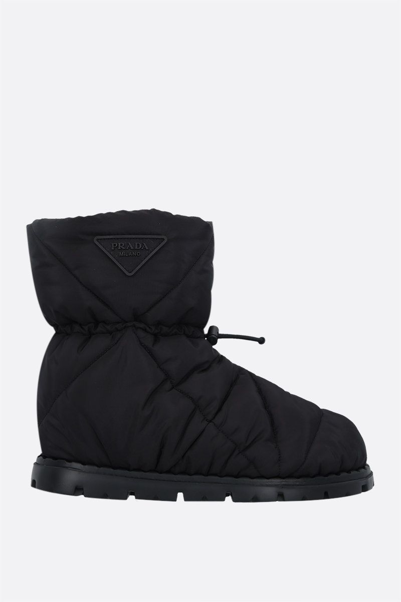 PRADA: padded Re-Nylon ankle boots Color Black_1