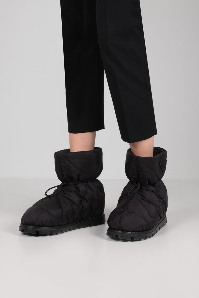 PRADA: padded Re-Nylon ankle boots Color Black_2