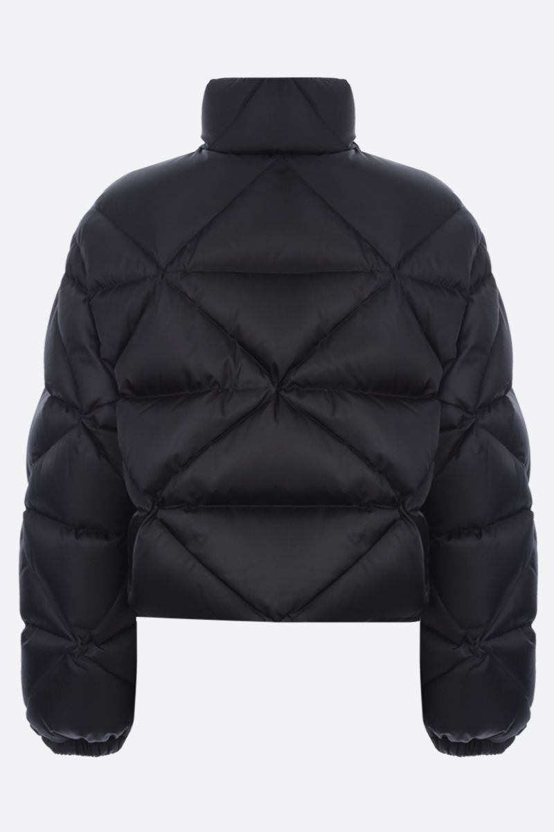 PRADA: logo-detailed quilted Re-Nylon down jacket Color Black_2