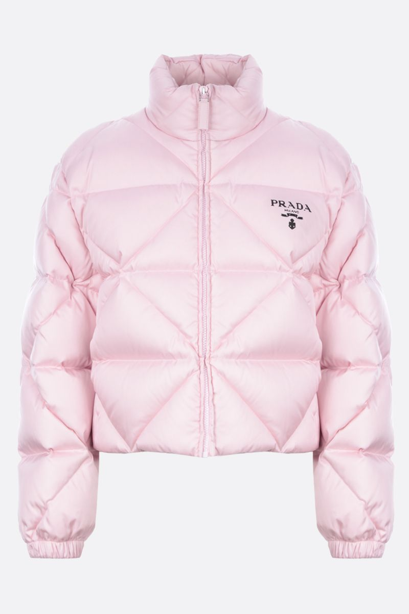 PRADA: logo-detailed quilted Re-Nylon down jacket Color Multicolor_1