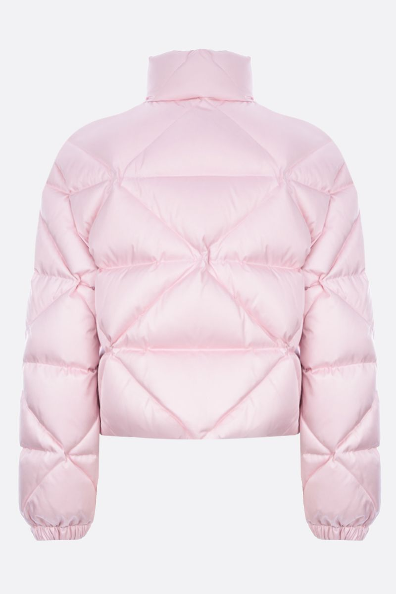 PRADA: logo-detailed quilted Re-Nylon down jacket Color Multicolor_2