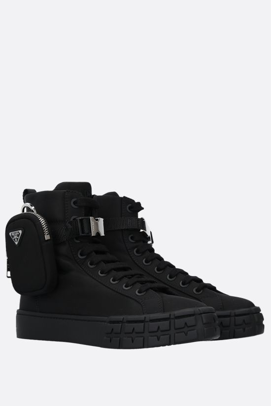 PRADA: sneaker high-top Wheel in Re-Nylon Colore Nero_2