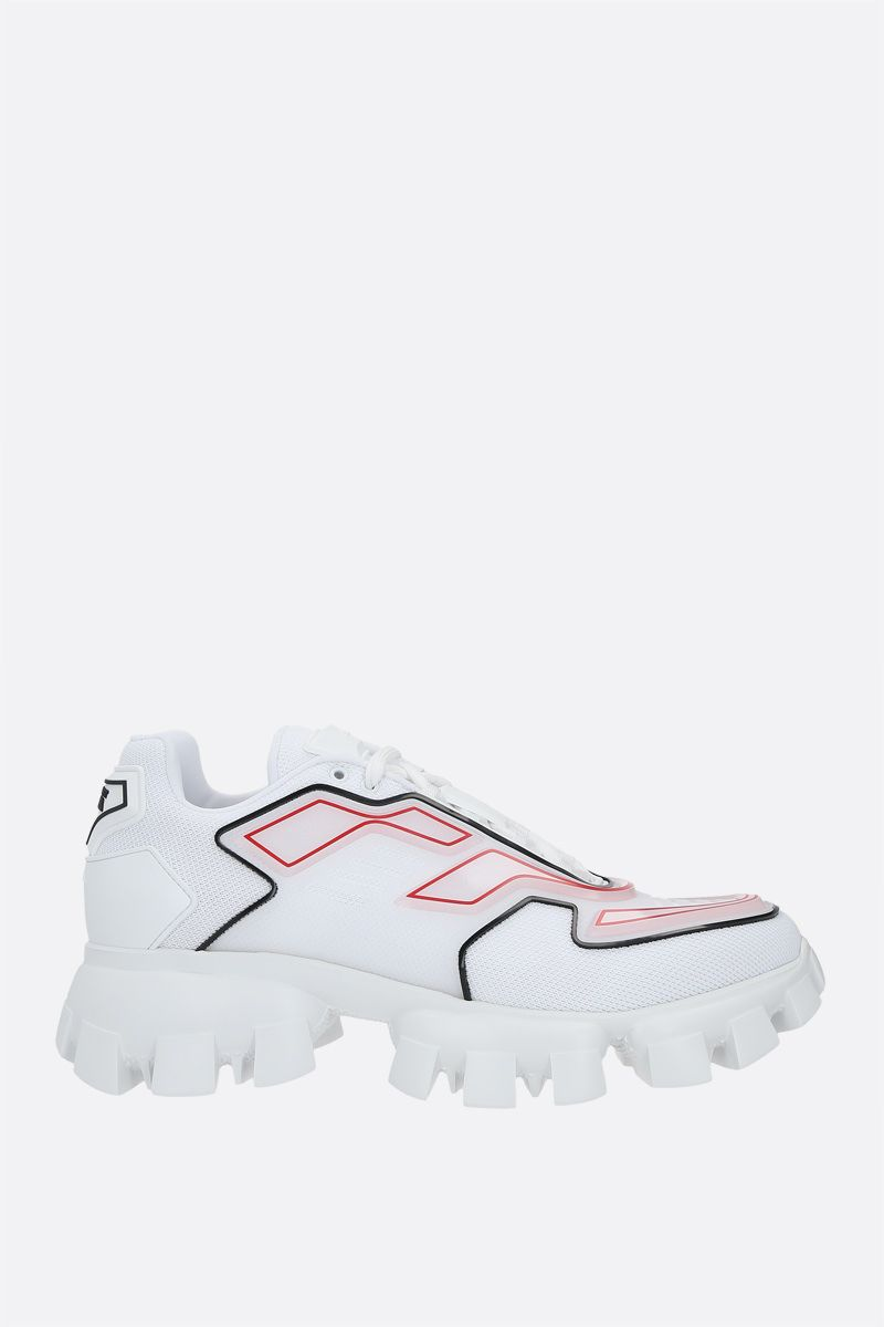 PRADA: Cloudbust Thunder sneakers in tech fabric and rubber Color White_1
