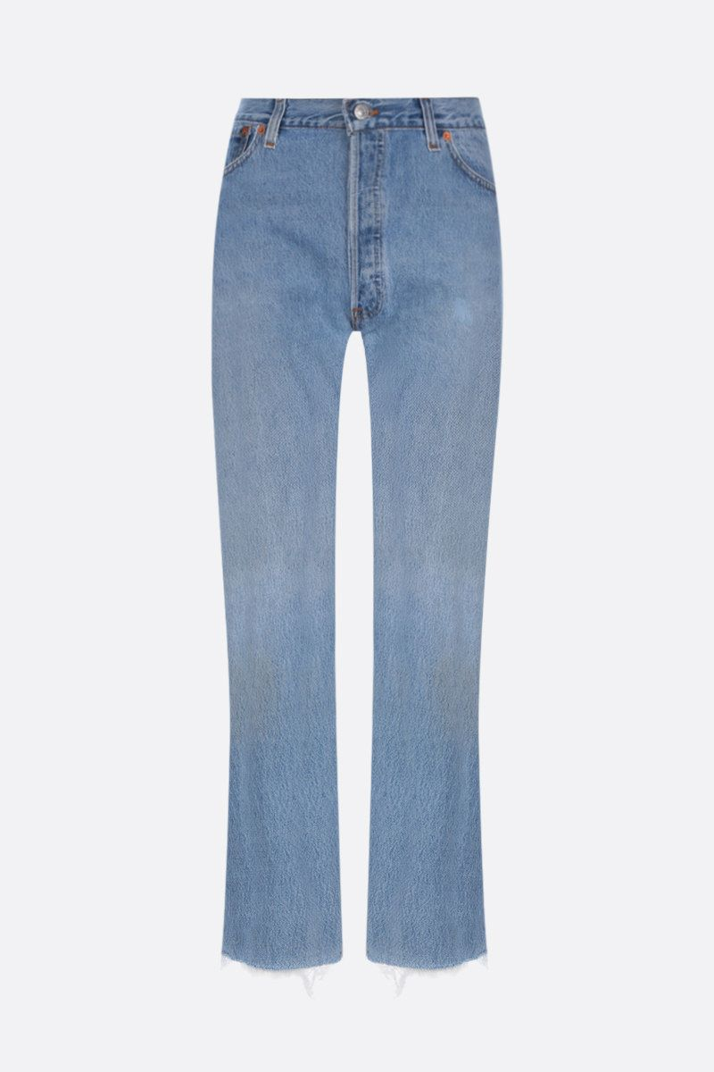 RE/DONE: jeans cropped Stove Pipe Colore Blu_1