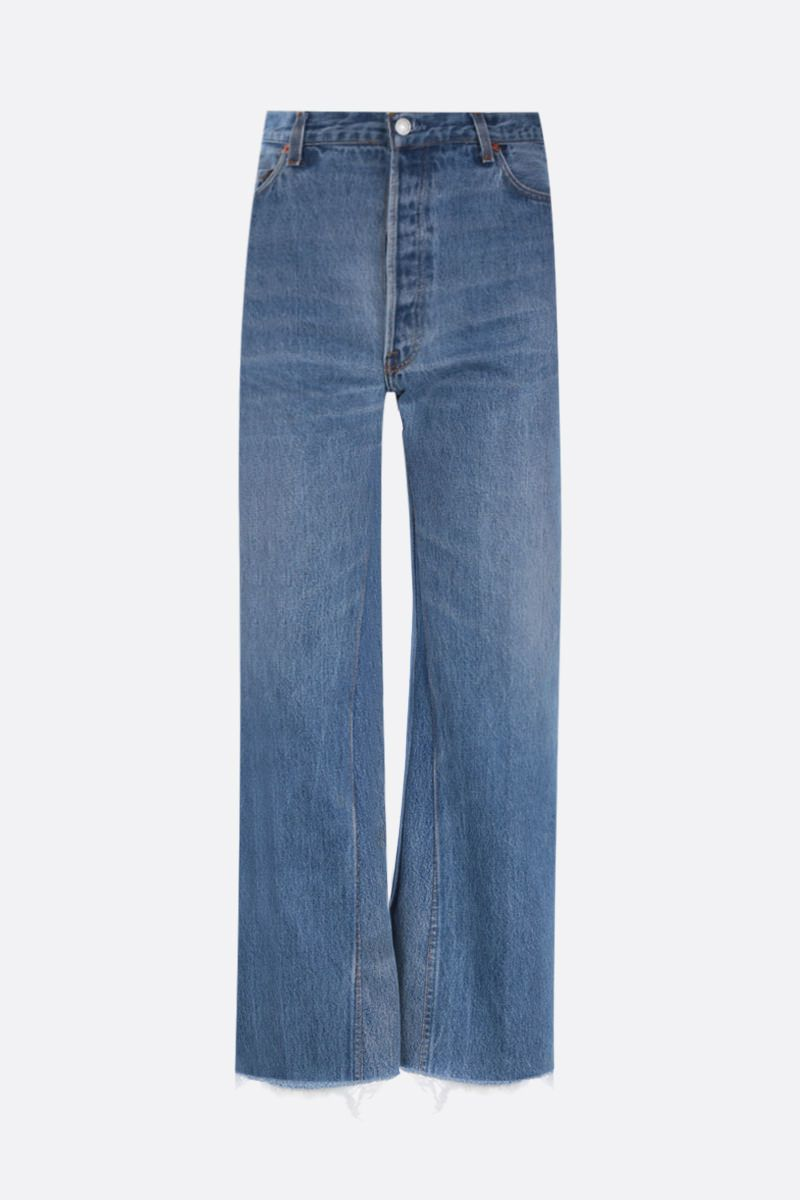 RE/DONE: wide-leg cropped jeans Color Blue_1