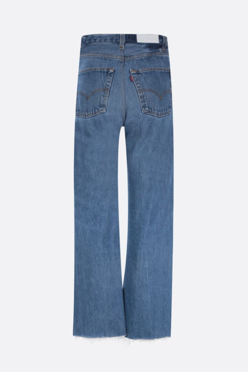 RE/DONE: wide-leg cropped jeans Color Blue_2