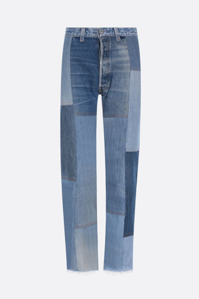 RE/DONE: 70s Patch cropped jeans Color Blue_1