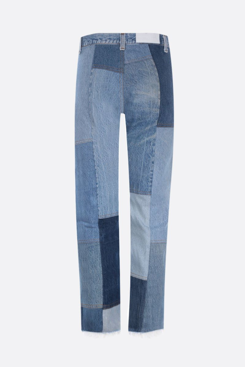 RE/DONE: 70s Patch cropped jeans Color Blue_2