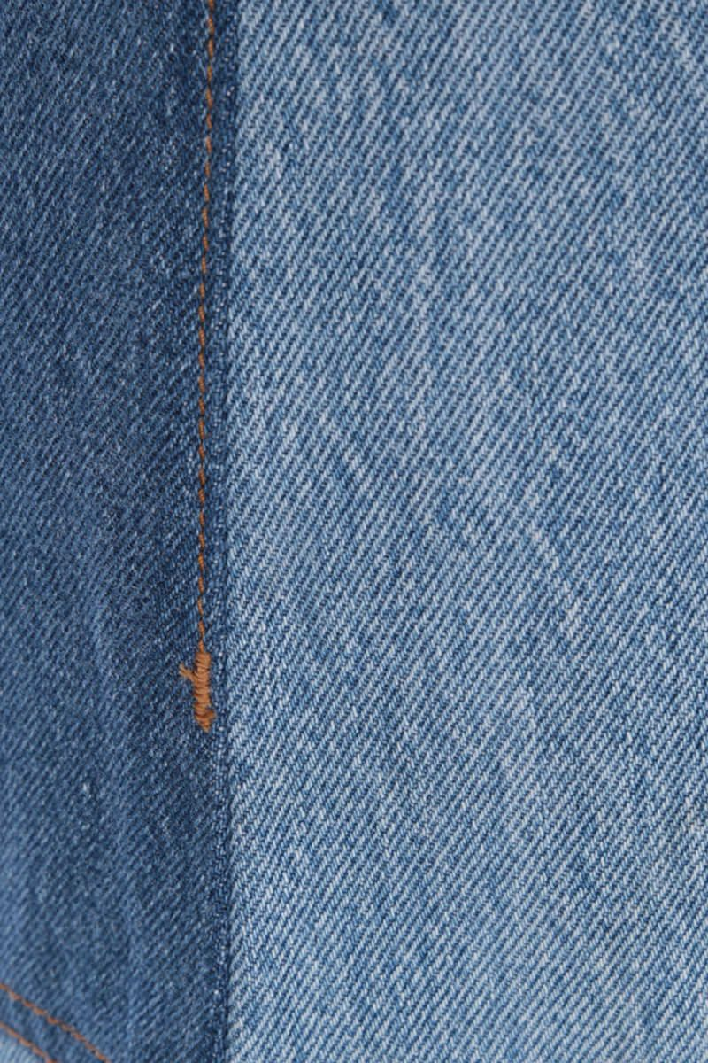 RE/DONE: jeans cropped 70s Patch Colore Blue_3