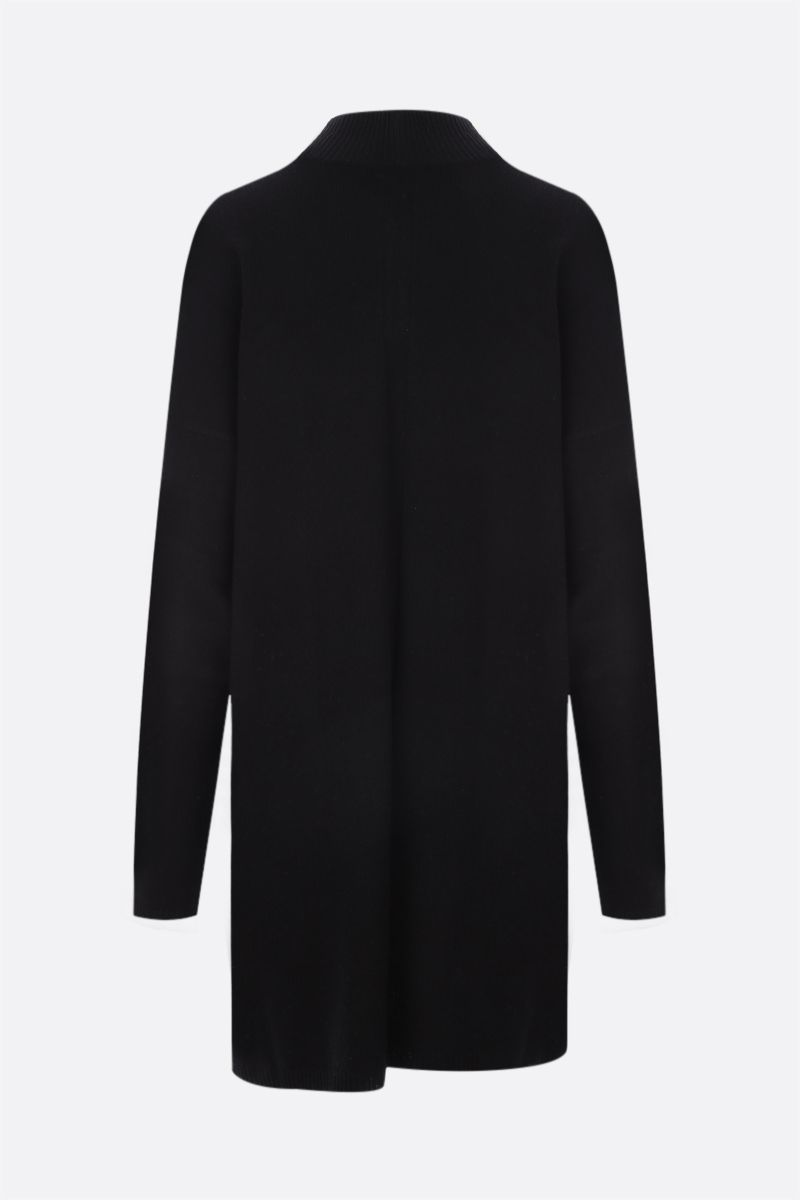RICK OWENS: pullover oversize Tommy in cashmere e lana Colore Black_2