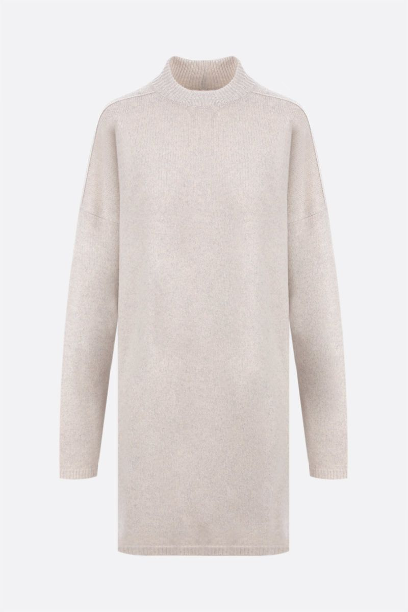 RICK OWENS: pullover oversize Tommy in cashmere e lana Colore Grey_1