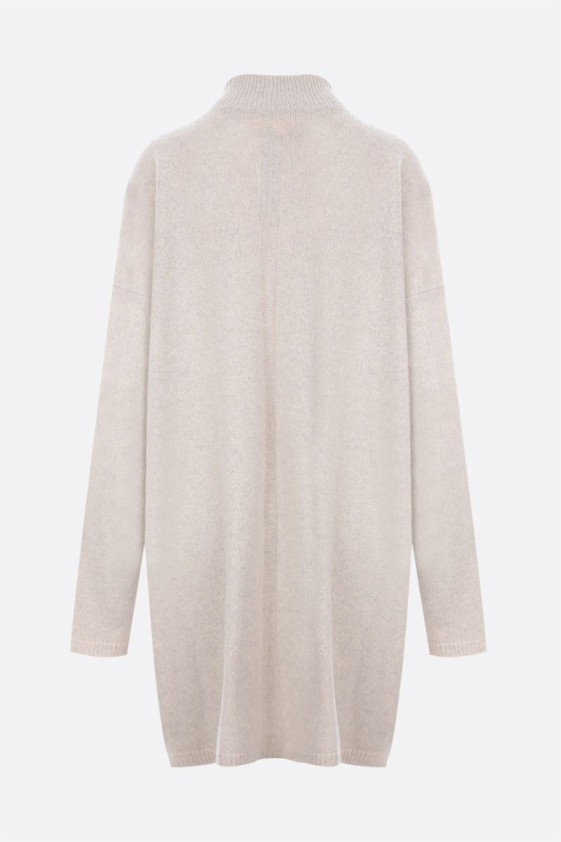 RICK OWENS: pullover oversize Tommy in cashmere e lana Colore Grey_2