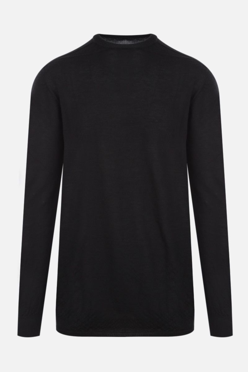 RICK OWENS: pullover oversize in cashmere Colore Black_1