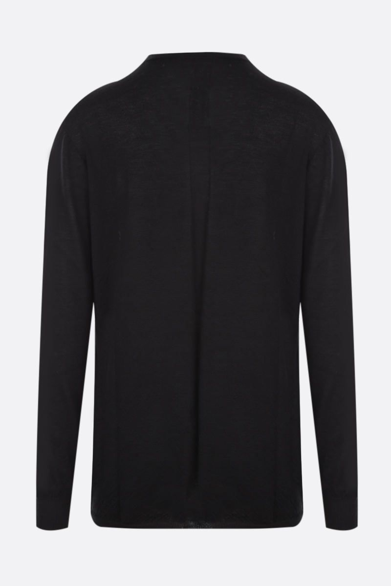 RICK OWENS: pullover oversize in cashmere Colore Black_2