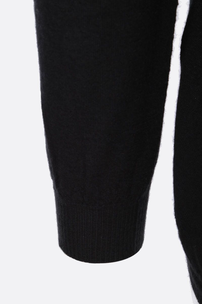 RICK OWENS: pullover oversize in cashmere Colore Black_3