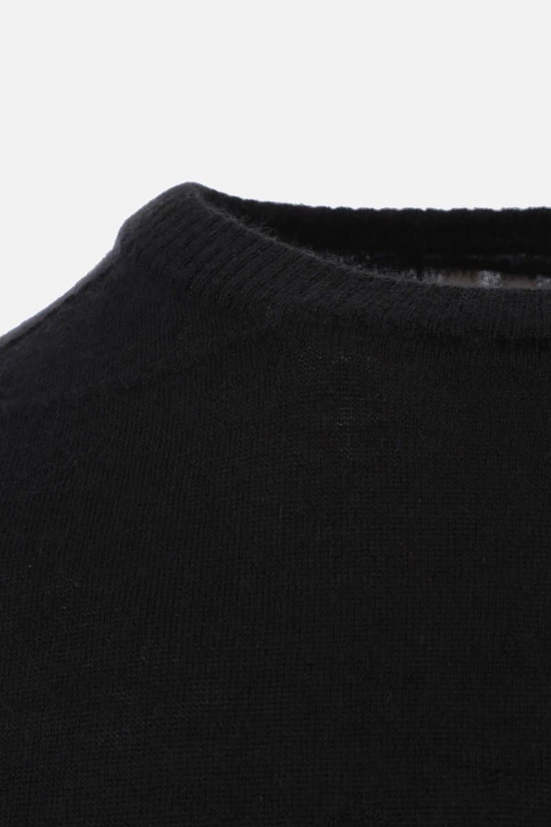 RICK OWENS: pullover oversize in cashmere Colore Black_4