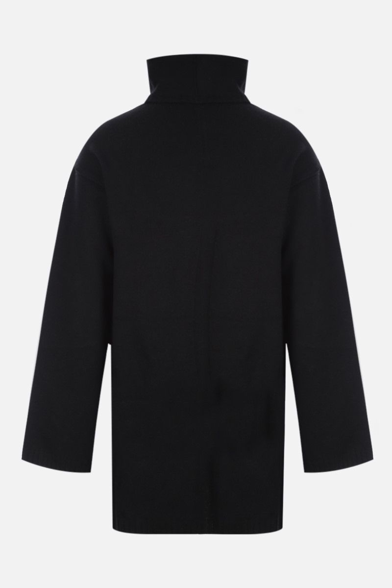 RICK OWENS: pullover cut-out in cashmere e lana Colore Black_2
