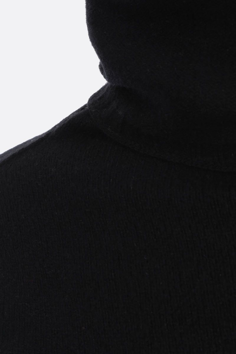 RICK OWENS: pullover cut-out in cashmere e lana Colore Black_3