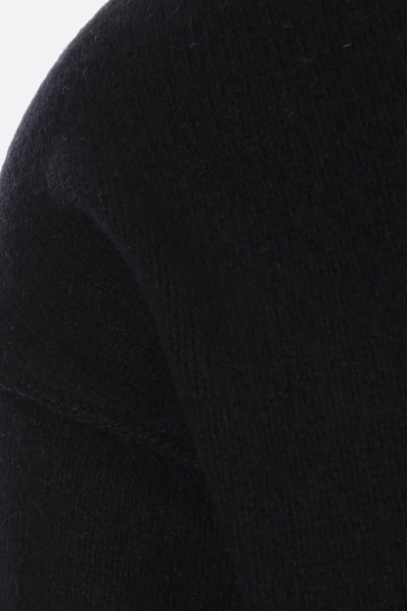 RICK OWENS: pullover cut-out in cashmere e lana Colore Black_4