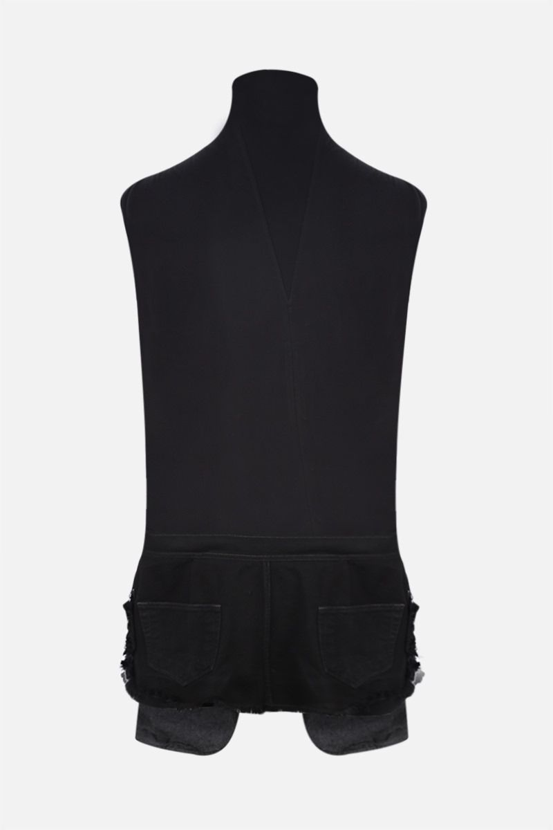 RICK OWENS: t-shirt Collage in jersey e denim Colore Black_2
