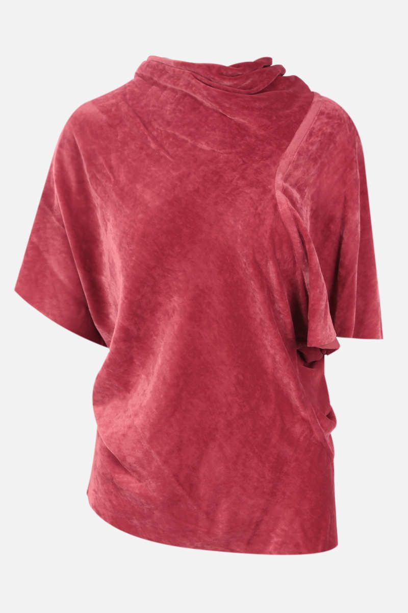 RICK OWENS: top Seb in velluto Colore Red_1