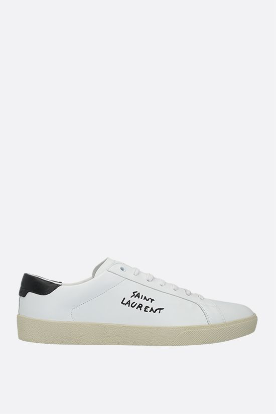 SAINT LAURENT: Court Classic SL/06 smooth leather sneakers Color White_1
